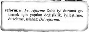 reform nedir