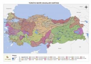 Türkiye Nehir Haritaları havzası