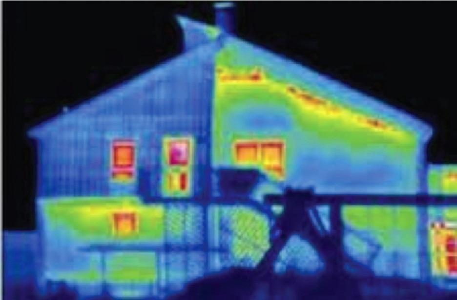 bir evin termal fotoğrafı