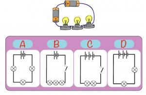 2 pilli 3 lambalı elektrik devresi