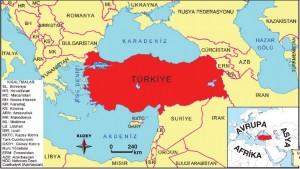 Türkiye'nin yeri haritası