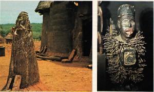 Benin'de Kandi bölgesinde başarılı sünnet için tanrının onayını almak amacıyla yapılmış bir fetiş.