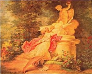 Fragonard'ın aşk acıları tablosu