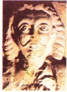 Friedrich I Barbarossa'nın Sforza şatosunda (Milano) yer alan kabartma portresi.