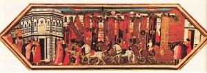 Rönesans 'tan kalma bir pano. (Floransa, Bargello Müzesi).