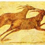Yalancımermer üstüne yapılmış hayvan figürleri (Leptis Magna, Trablus yakınlan, Libya).