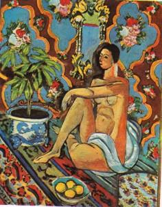 Matisse'in Süslü Fon Üstüne Dekoratif Figür adlı tablosu.