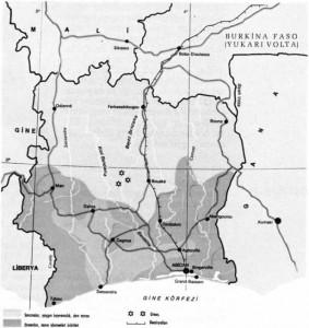 fildişi kıyısı haritası