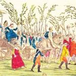 Fransız Devrimi'nin temel dönemecini oluşturan 5 ve 6 Ekim 1789 günlerindeki olayları gösteren bir resim.