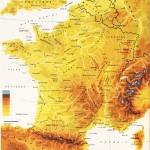 fransa fiziki haritası