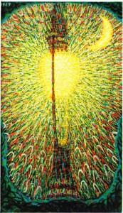 Giacomo Balla'nın Ark Lambası (1909) adlı tablosu.