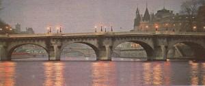 Paris'in en eski köprüsü Pont Neuf (1578 -1613).