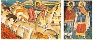 Romanya'da, Bukovina ilindeki Ortodoks manastırlarında bulunan fresklerden iki örnek.