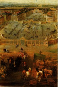 Versailles Şatosu'nun 1722'deki görünüşü