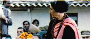 İndira Gandhi 1980'deki seçim kampanyası sırasında.