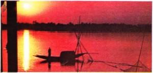 Dakka'nın güneyinde, deltadan bir görünüş