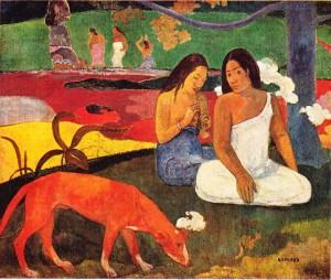 Gauguin'in Arearea (Eğlence) adlı tablosu