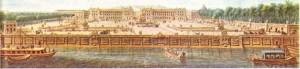 Jacques Ange Gabriel, Versailles'da Opera ve Küçük Trianon'u, Paris 'te de Askeri Okul ile günümüzde Concorde alanı olarak bilinen Louis XV alanını yaptı; Perignon'un yaptığı bu guuaş çalışmasında, Concorde alanının Concorde köprüsünün yapımından (1787-1790) önceki durumu görülüyor.