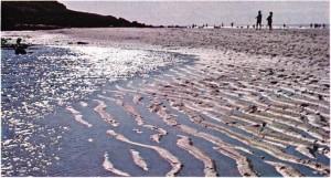 Deauvillede (Fransa) deniz suyunun çekilmesi