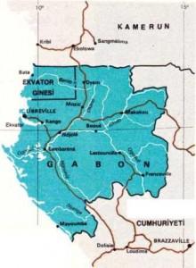 gabon haritası