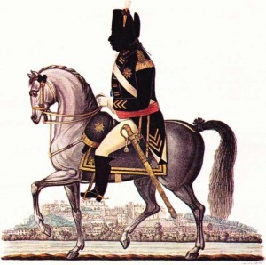 George,III'ü at üstünde gösteren bir resim.