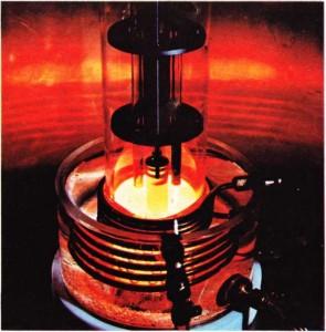 Transistorun merkezini oluşturan germanyum billuru.