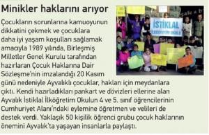 çocuk hakları gazete haberi