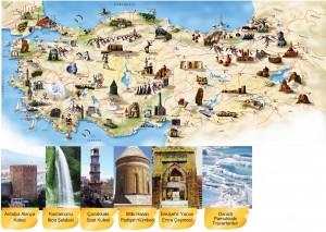 Ülkemizin önemli doğal varlıkları ve kültürel ögeleri zihin haritası