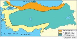 Türkiye iklim haritası