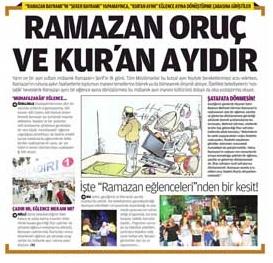 ramazan oruç ve kuran ayıdır gazete haberi