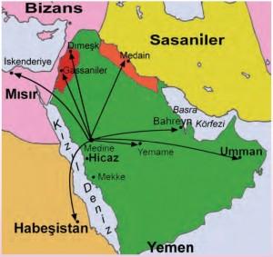 Hz Muhammedin mektup gönderdiği ülkeler