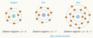 bazı ametal atomları elektron dizilimi