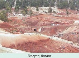 burdur erozyon görüntüsü