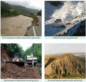doğal afetlere neden olan uygulamalar