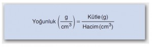 yoğunluk formülü