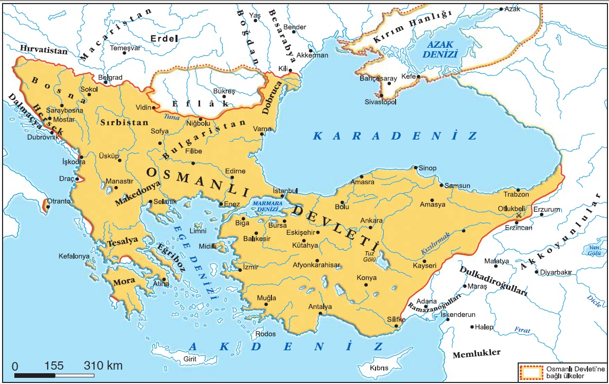 Karadenizin Türk gölü haline gelişi haritası
