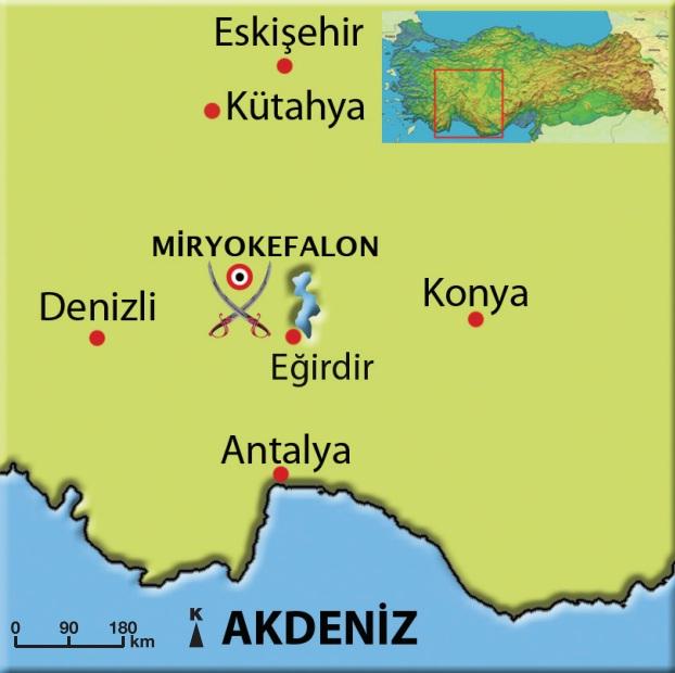 Miryokefalon Savaşının yeri