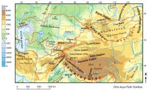Türklerin ana yurdu haritası