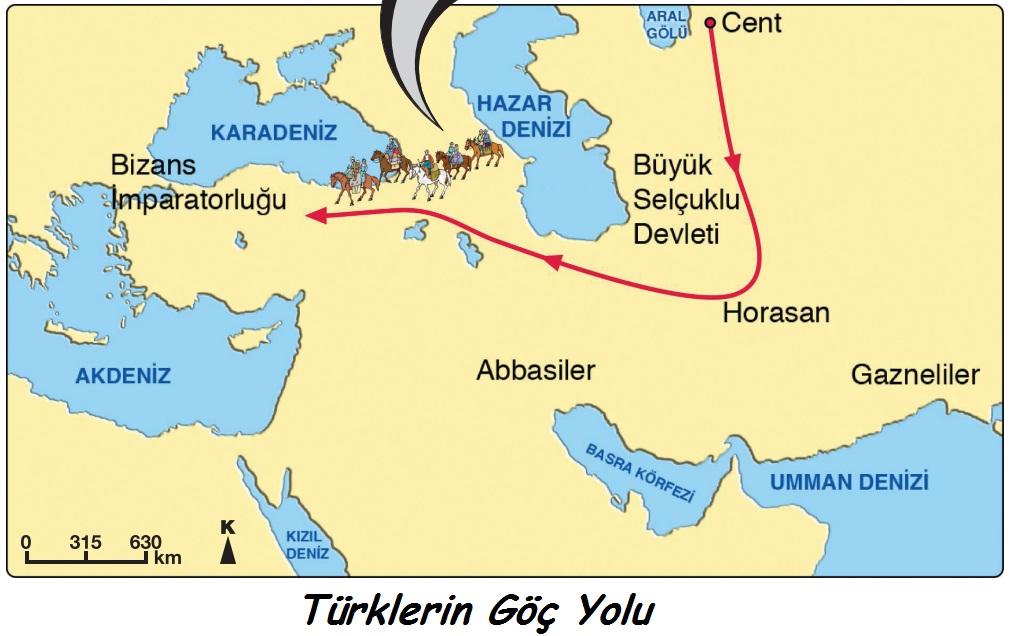Türklerin göç yolu