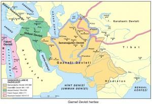 gazneli devleti haritası