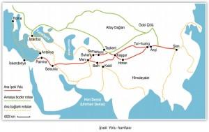 ipek yolu haritası
