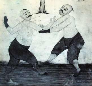 kırkpınar güreşleri ile ilgili osmanlı gravürü
