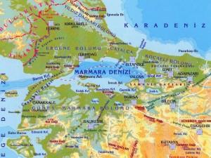 marmara bölgesi tanıtıcı afiş için harita