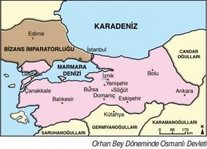 orhan bey döneminde osmanlı sınırları