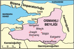 osmanlı beyliği kuruluş haritası
