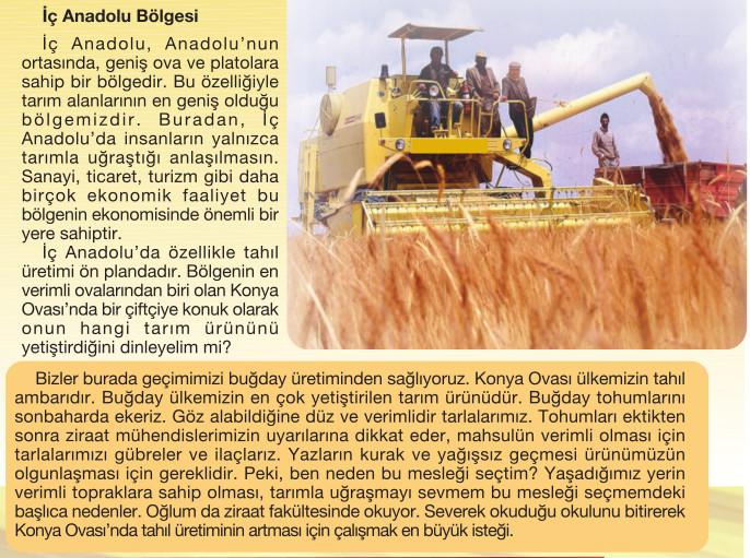 İç Anadolu bölgesinin ülke ekonomisine katkıları