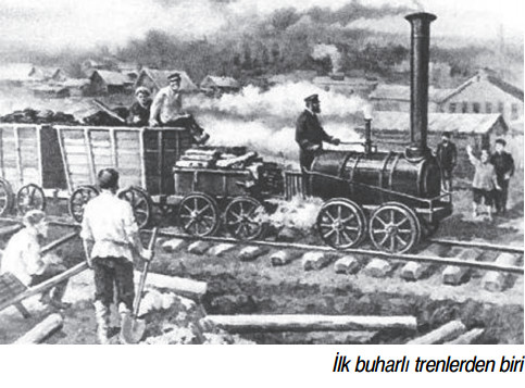 İlk buharlı trenlerden biri