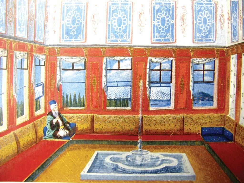 Osmanlı evini gösteren tablo