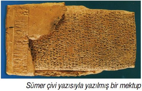 Sümer çivi yazısıyla yazılmış bir mektup