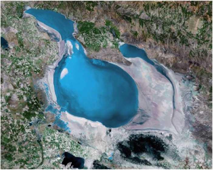 Tuz Gölünün uzaydan görünüşü